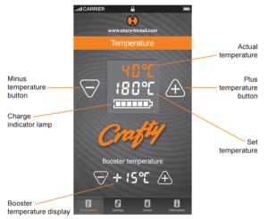 Crafty Vaporizer Crafty app overview