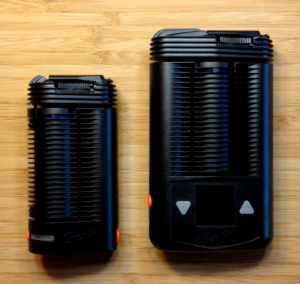 Crafty Vaporizer size compared to the Mighty Vaporizer