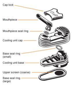 Crafty vaporizer cooling unit pieces