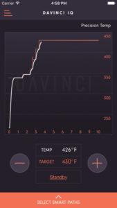 DaVinci IQ Vaporizer smartphone app precise temp mode