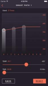 DaVinci IQ vaporizer smartphone app smart path setting
