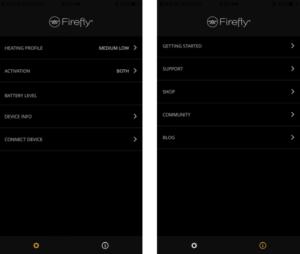 Firefly 2 Vaporizer App Overview
