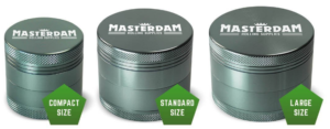 Masterdam Grinders Shield Series Sizes