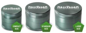 Masterdam Grinders Shield Series Sizes