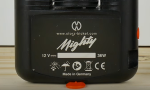 Mighty Vaporizer type label on the back