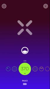 PAX 3 vaporizer temperature setting screen in the app