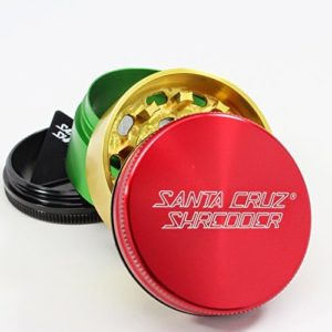 santa cruz shredder 4 piece grinder rasta color